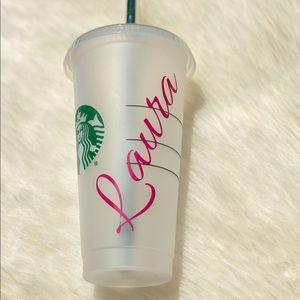 Starbucks Custom Made Vinyl Sticker Name Designs